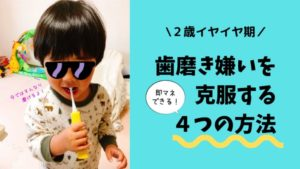 【2歳】歯磨きを嫌がる息子を変えた即マネできる4つの方法とは?